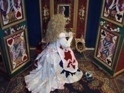 The Queen of Hearts in her Throne Room